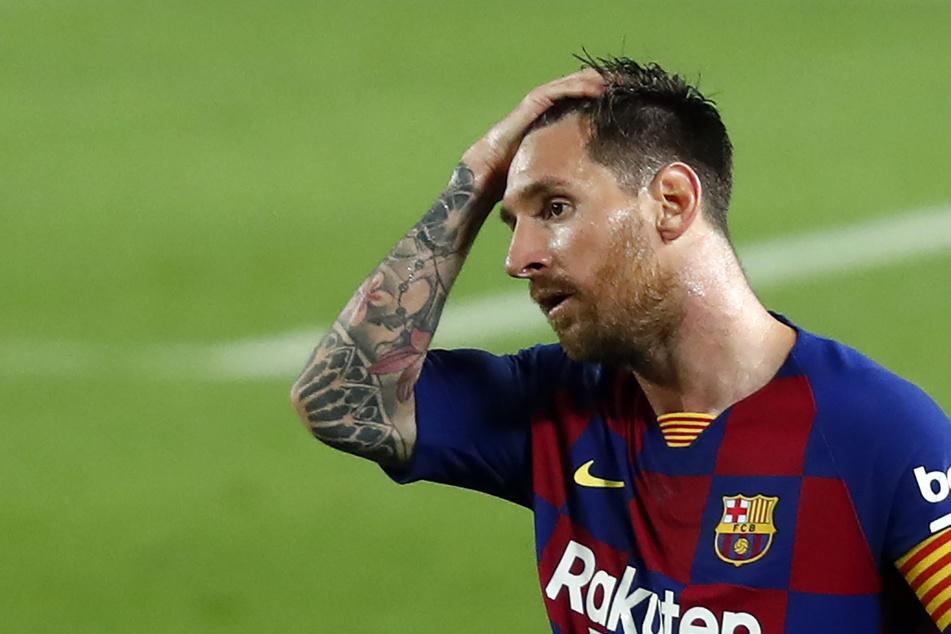 Bei Lionel Messi (33) und dem FC Barcelona läuft es zurzeit zum Haare raufen.