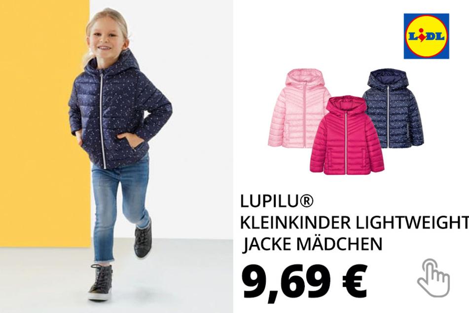 LUPILU® Kleinkinder Lightweight Jacke Mädchen, mit Taschen, Kapuze, wasserabweisend