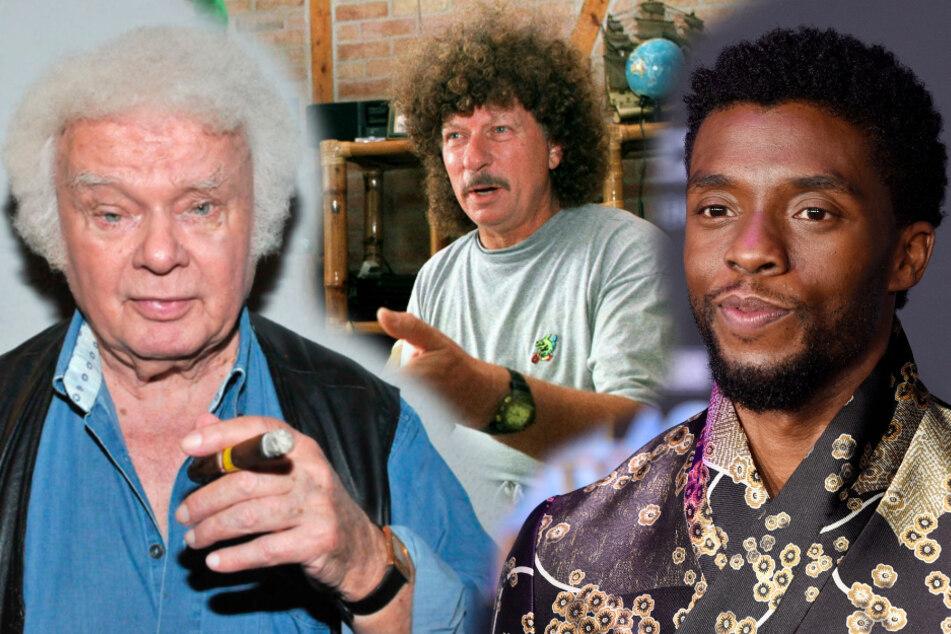 Fips Asmussen (l.), Harry Jeske (M.) und Chadwick Boseman.