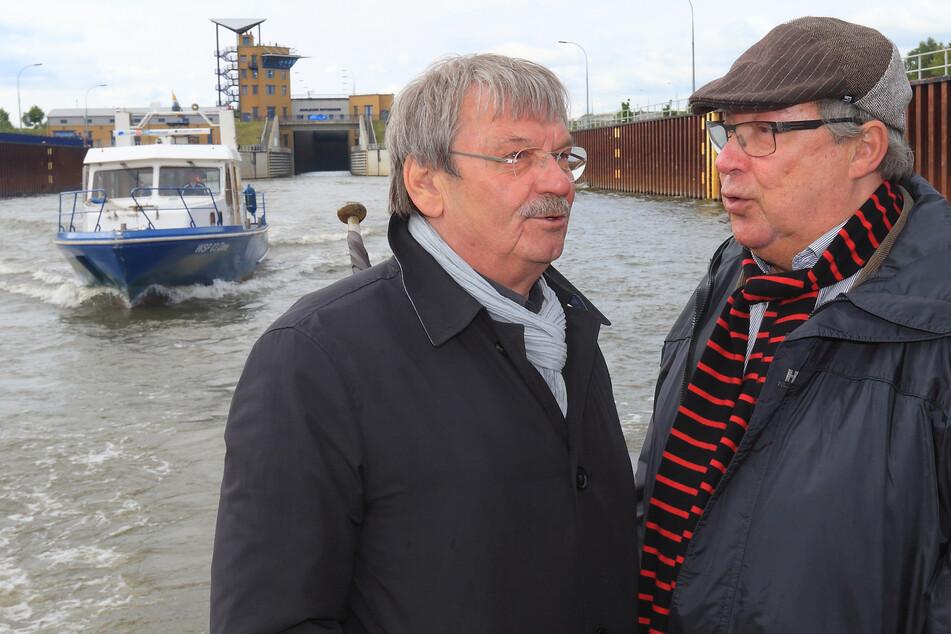 Kollege Wolfgang Winkler (verstarb 2019 mit 76 Jahren) und Jaecki Schwarz waren 17 Jahre lang das Polizeiruf-Dream-Team im MDR.