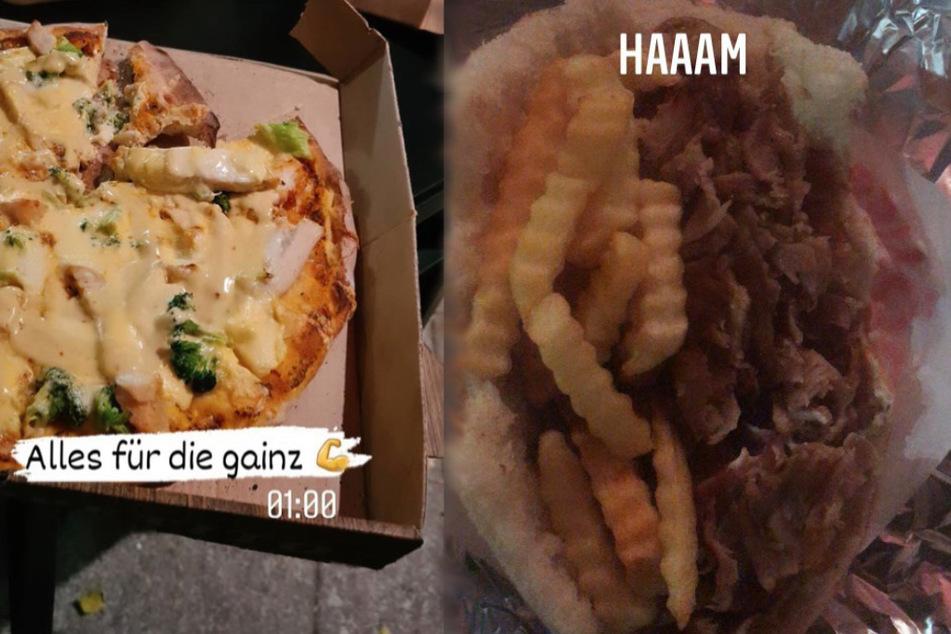 Pommes, Döner, Pizza: Sandra Janina isst, was ihr gefällt.
