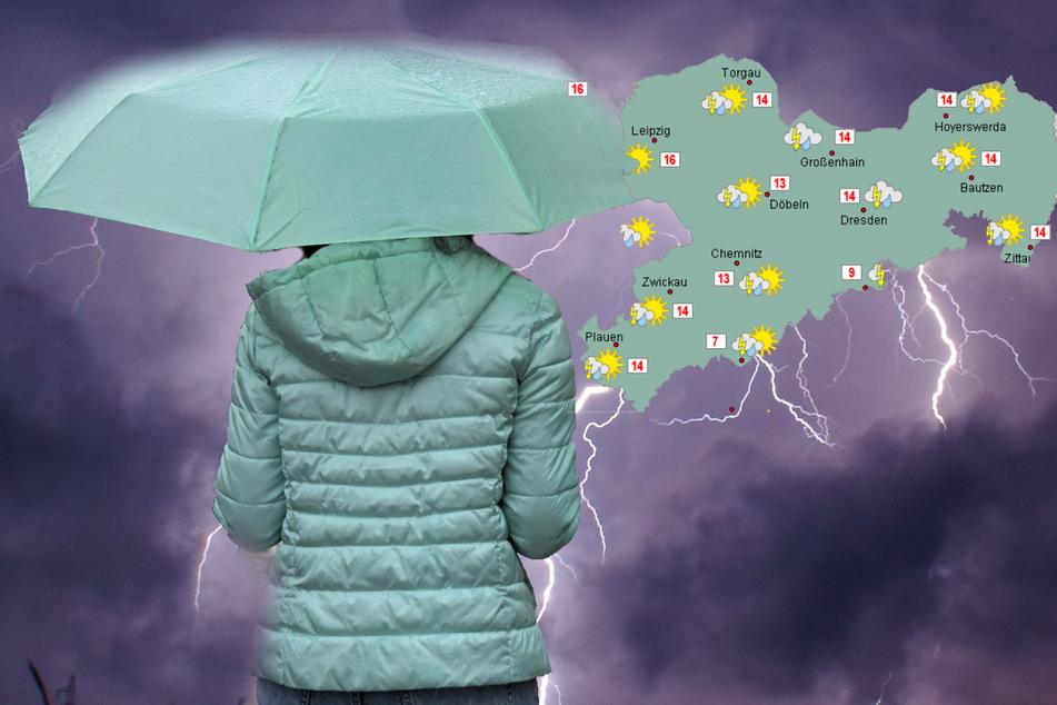 Gewitter brauen sich über Sachsen zusammen: Starkregen droht!