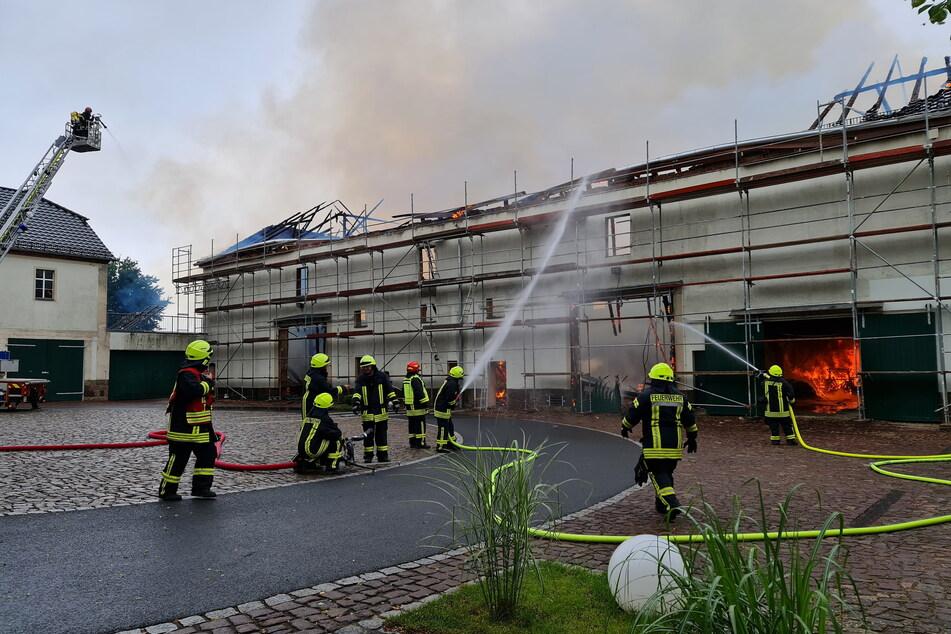 Die Scheune stand nach Angaben der Eigentümer-Familie zum Zeitpunkt des Brandes leer und sollte umgebaut werden.