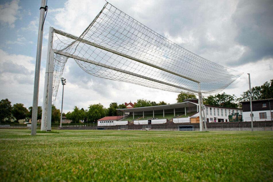 Blick auf das alte Stadion von Viktoria Berlin in Lichterfelde.