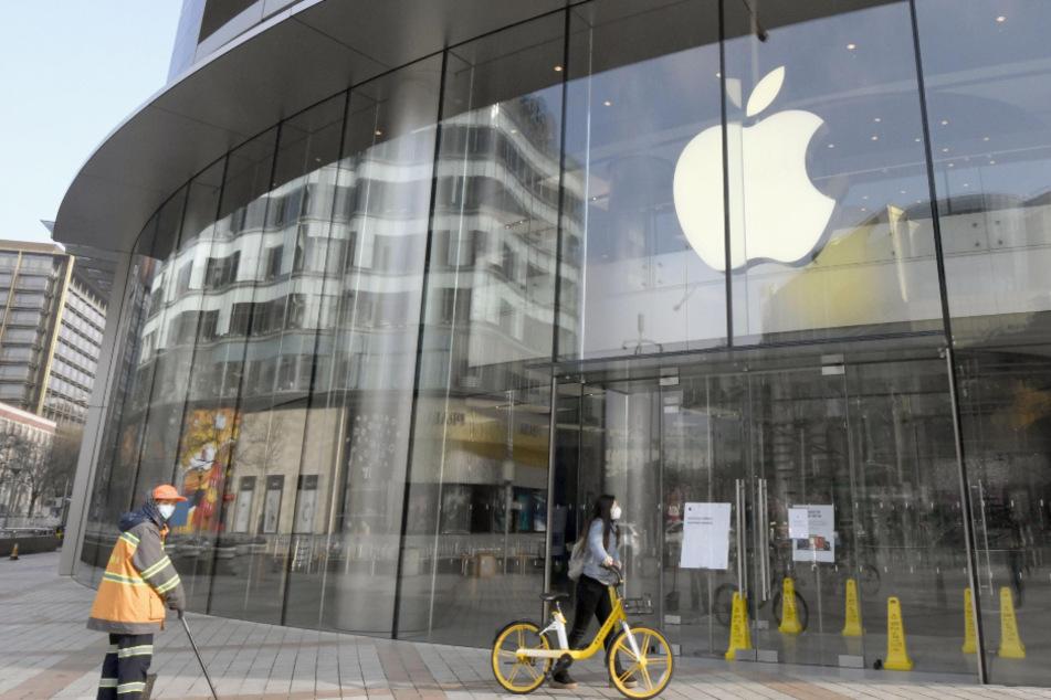 Der Apple Store in Peking war aufgrund des Coronavirus-Ausbruchs vorübergehend geschlossen.