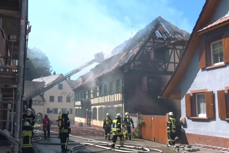 Millionenschaden bei Brand eines ehemaligen Gasthauses