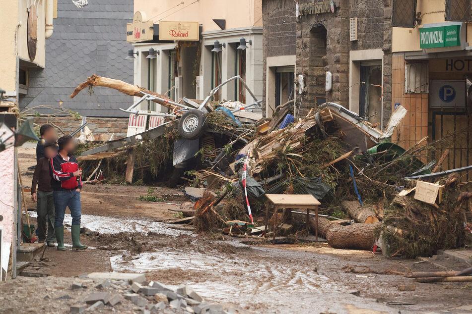 Zahlreiche Gebäude in Altenahr sind durch das Unwetter zerstört.
