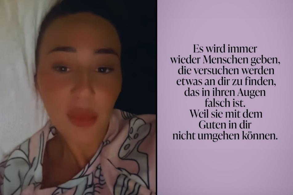 Alessia Herren (19) erhält bei Instagram Nachrichten von Usern, die ihr fiese Vorwürfe machen. (Fotomontage)