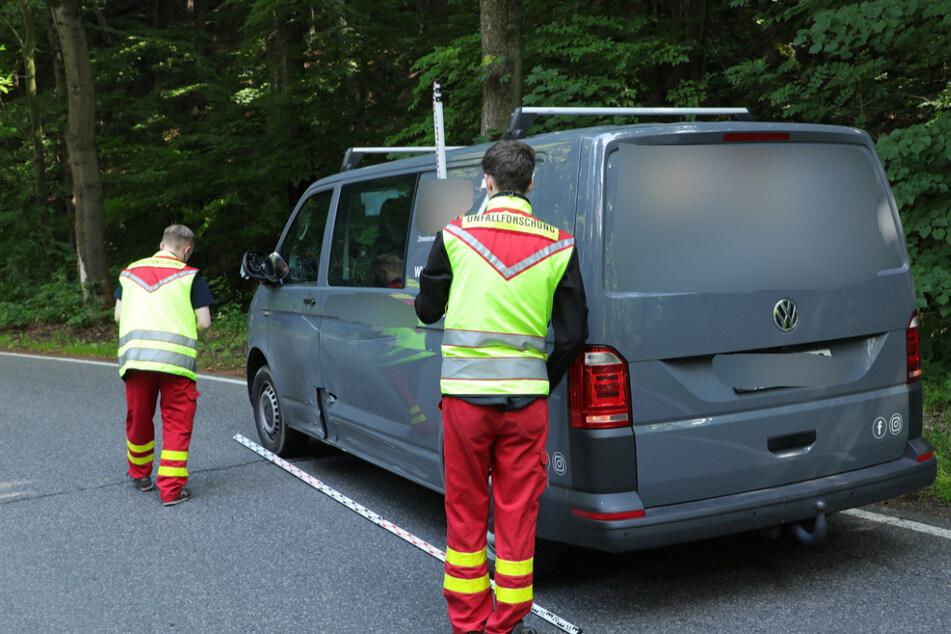 Der am Unfall beteiligte Transporter.