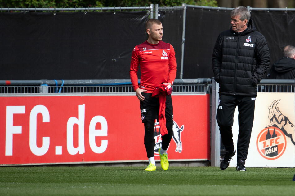 """Der neue FC-Trainer Friedhelm Funkel (67) lobte Max Meyer (25) vor dem Derby gegen Leverkusen als """"guten Spieler""""."""
