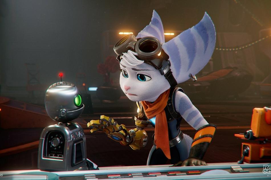 Rivet ist die neue spielbare Heldin im Team. Zusammen mit Clank versucht sie, Ordnung in das ganze Universums-Chaos zu bringen.
