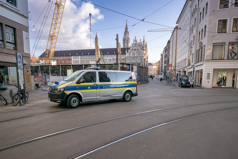 In München sind derzeit kaum Menschen auf der Straße.