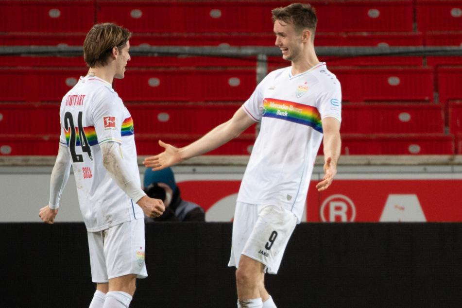 Sind in den Fokus der Top-Klubs geraten: VfB-Profis Borna Sosa (l., 23) und Sasa Kalajdzic (23).