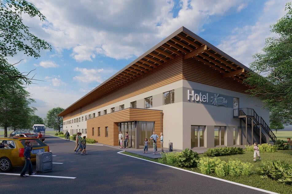 So soll das Hotel nach der Fertigstellung 2022 aussehen.