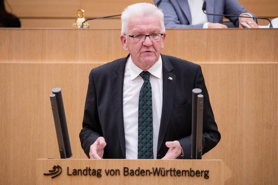 Wurde um Hilfe gebeten: Ministerpräsident Winfried Kretschmann (73, Grüne).