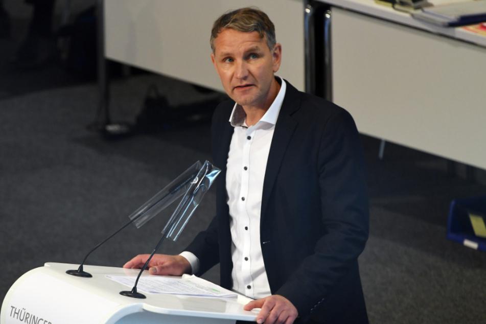 AfD-Fraktionschef Björn Höcke (48) im Thüringer Landtag.