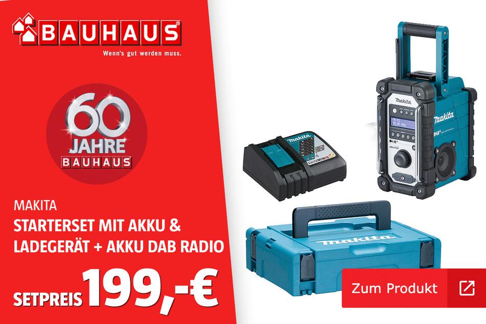 Akku-Radio 'DMR110' und Akku & Ladegerät 'Power Source Kit für 199 Euro