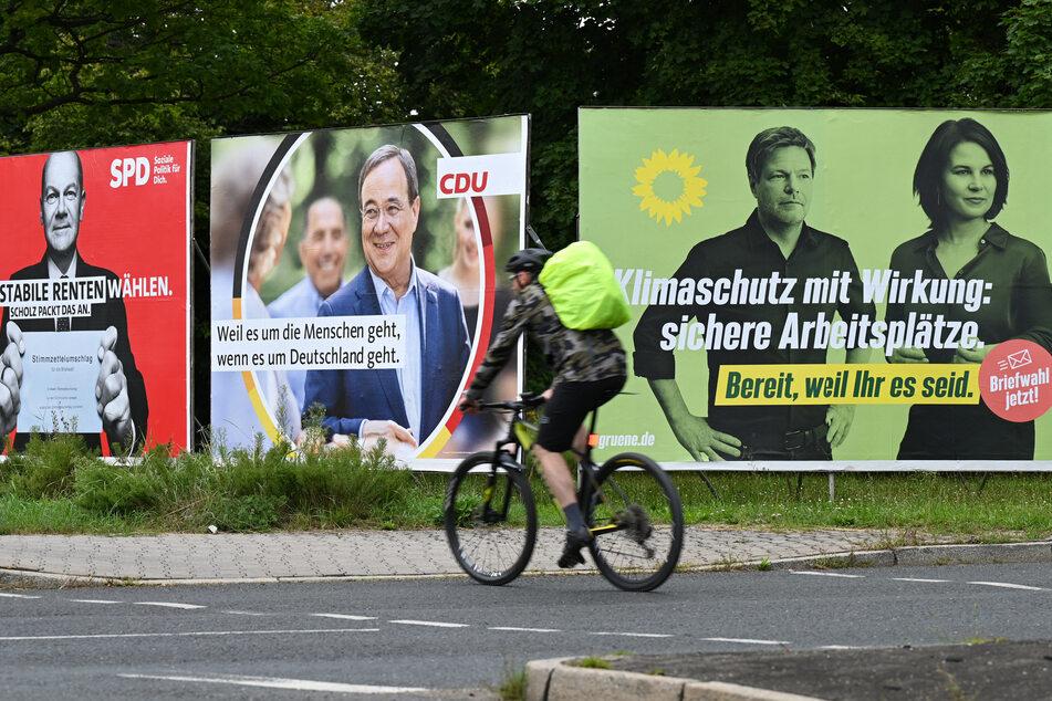 Es ist ein Kopf-an-Kopf-Rennen vor der Bundestagswahl: Gerade liegt die SPD gegenüber CDU/CSU und Grünen vorne.