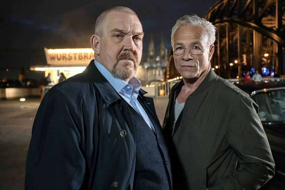 """Die """"Tatort""""-Kommissare Max Ballauf (Klaus J. Behrendt, 61, r.) und Freddy Schenk (Dietmar Bär, 60)."""