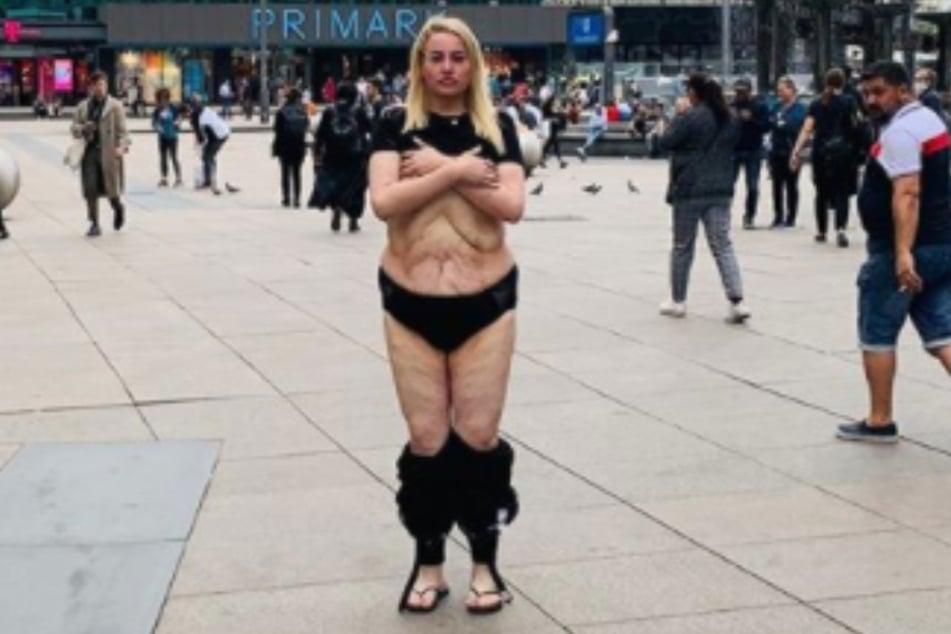 Darum lässt YouTube-Star Aline Bachmann mitten in der Öffentlichkeit die Hosen runter