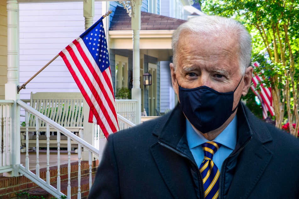 President Biden has extended the moratorium on foreclosures for federally guaranteed mortgages (collage, stock image).