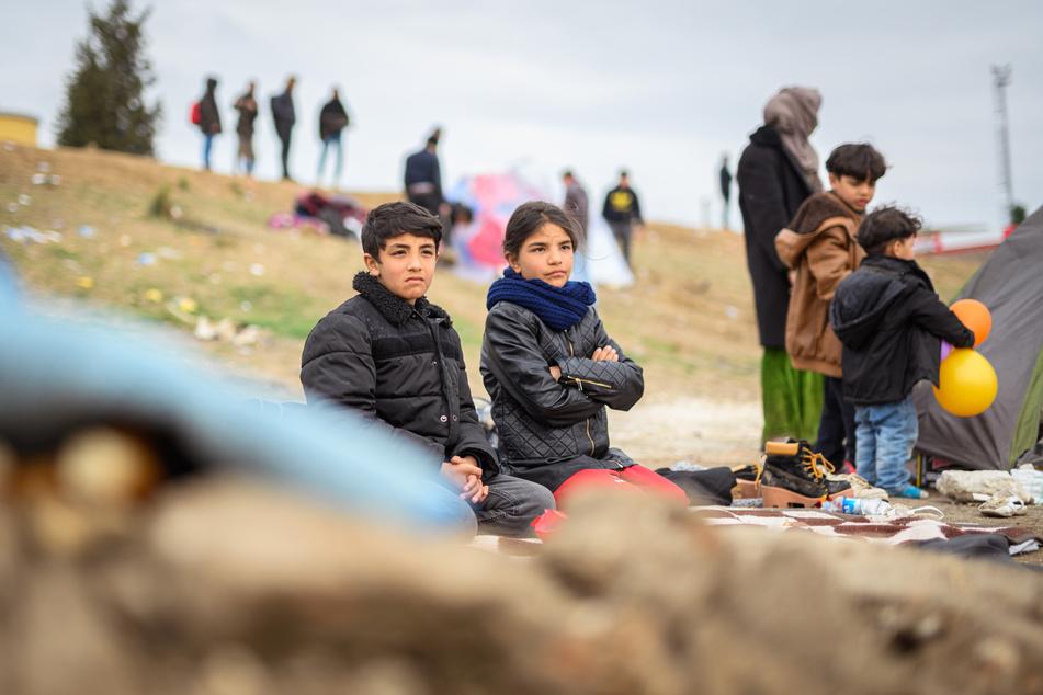 Syrische Flüchtlingskinder in der türkischen Grenzstadt Edirne.