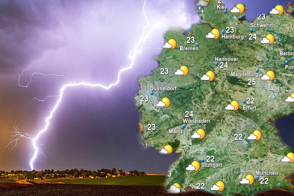 Gewitter, aber auch schöne Aussichten: So wird das Wetter in der neuen Woche!