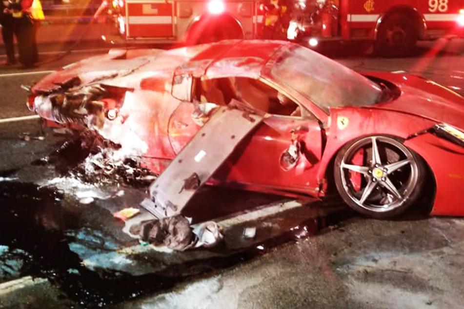 Über das Wochenende ausgeliehen: Ferrari komplett Schrott gefahren!