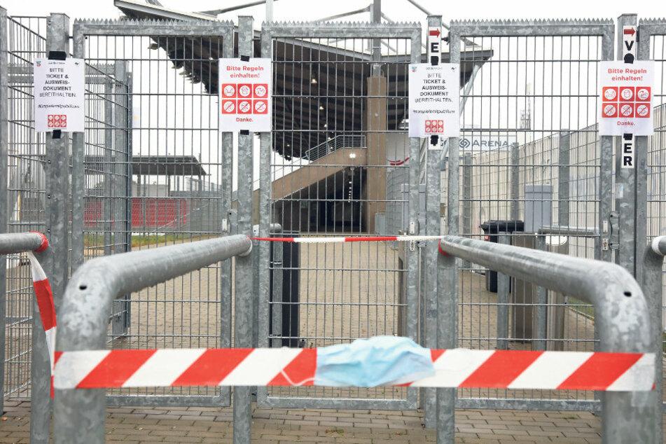 Bitter, aber wegen der Pandemie aktuell nicht zu ändern: Die Tore der Zwickauer GGZ-Arena bleiben am Samstag zum Spiel des FSV gegen den KFC Uerdingen geschlossen.