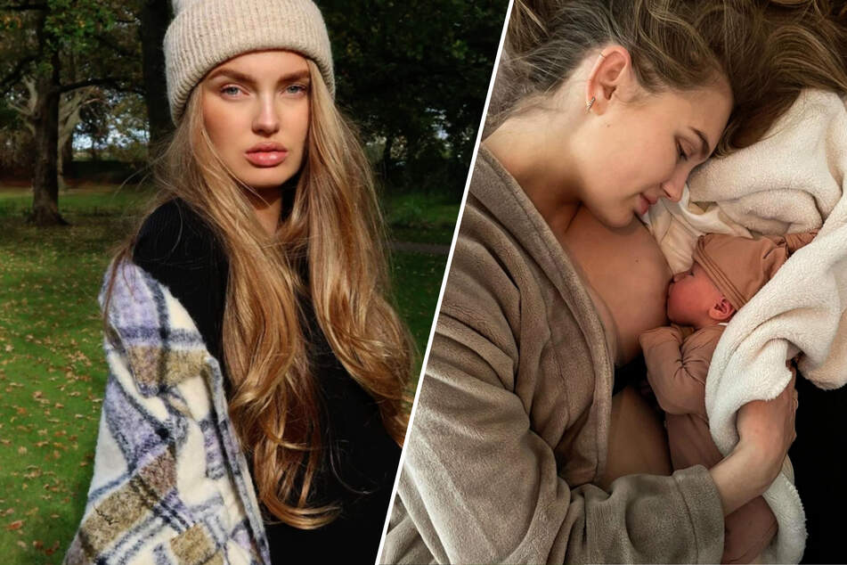 Victoria's Secret model welcomes her daughter into the world!