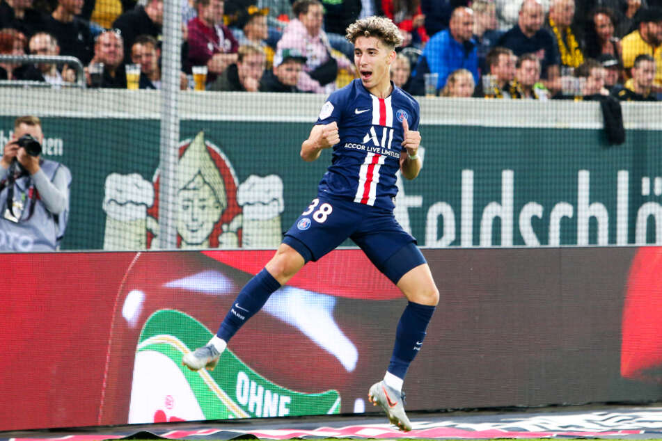 Adil Aouchiche traf am 16. Juli 2019 beim 6:1-Kantersieg von PSG im Testspiel bei Dynamo Dresden zum zwischenzeitlichen 6:0.