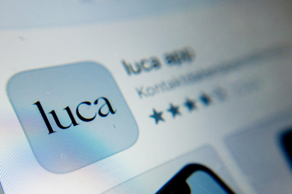 Das Symbol der Luca-App ist auf einem Smartphone zu sehen. Die App dient der Datenbereitstellung für eine mögliche Kontaktpersonennachverfolgung.