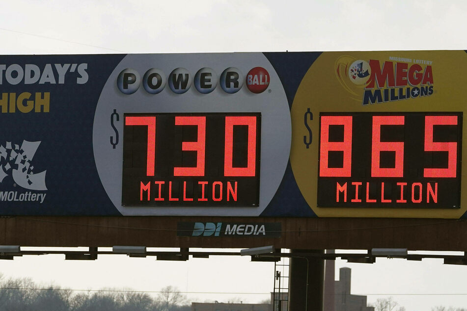 A billboard in St. Louis reminded Powerball and Mega Millions players that the numbers were rising.