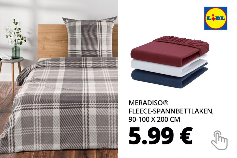 MERADISO® Fleece-Spannbettlaken, 90-100 x 200 cm