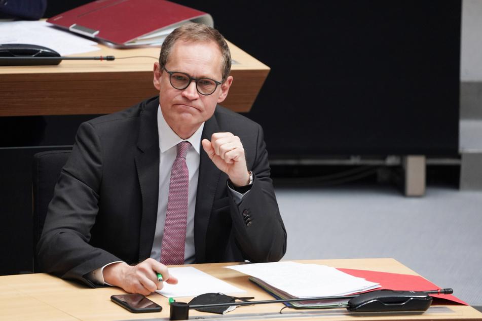 Michael Müller bei einer Plenarsitzung des Berliner Abgeordnetenhauses.