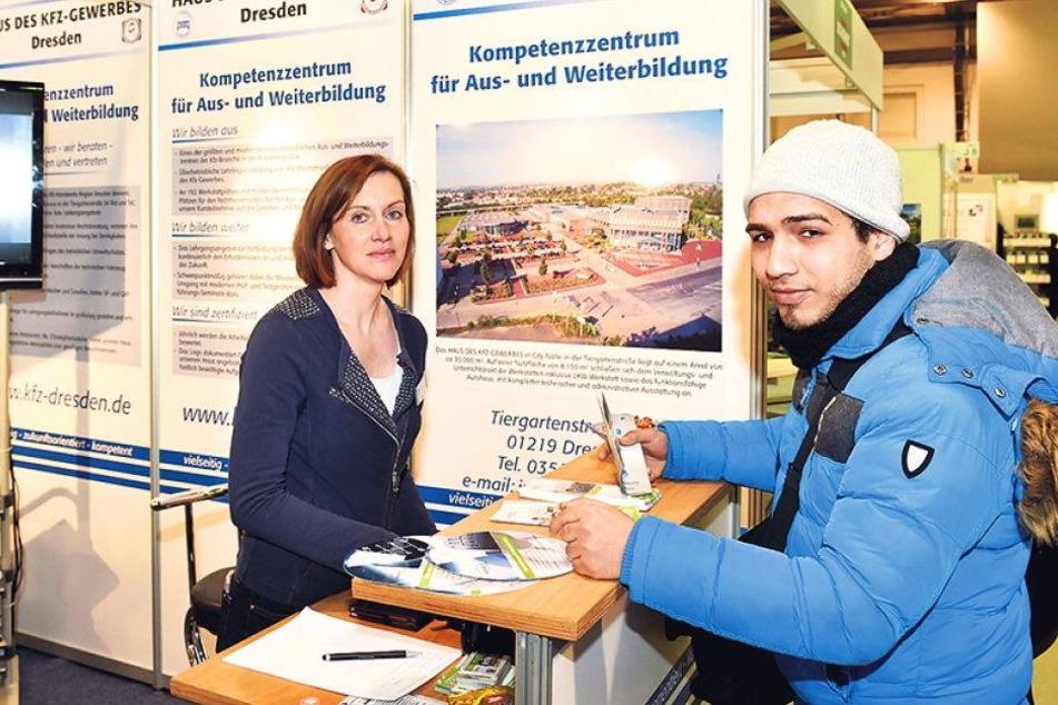 Jobsuche! Flüchtlinge auf Sachsens größter Bildungsmesse