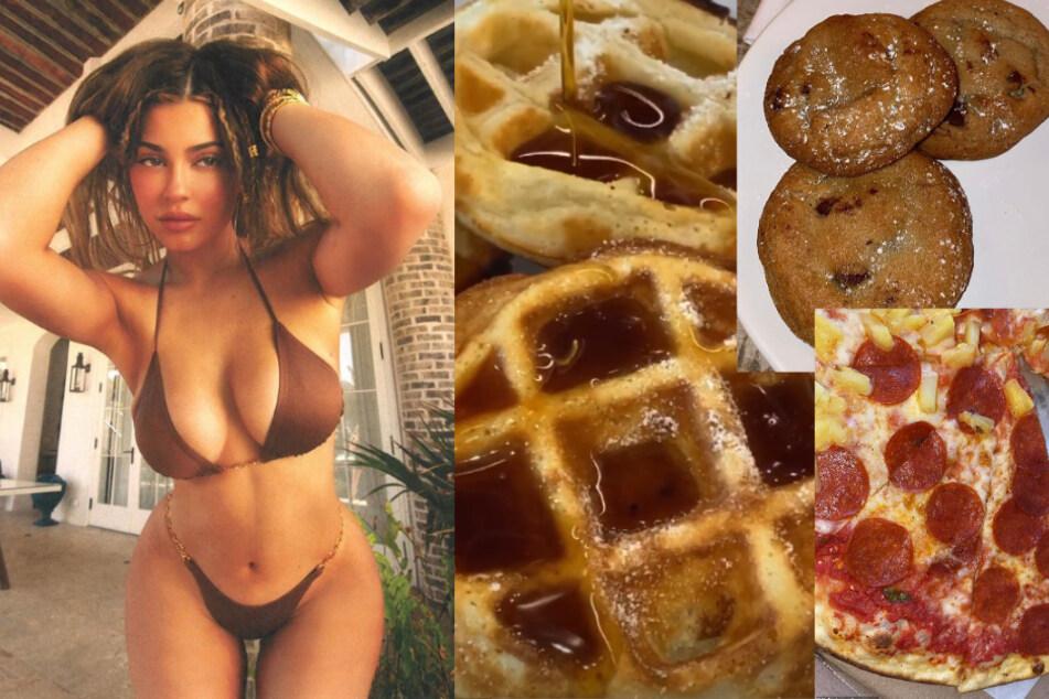 Ein Bild aus besseren Tagen (links), doch mittlerweile dreht sich bei Kylie alles ums Essen.