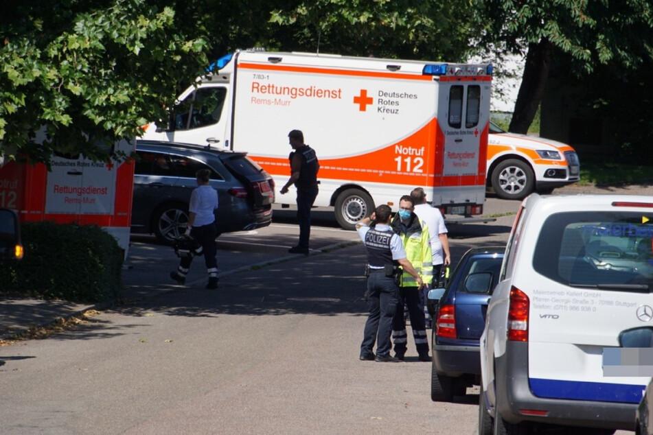 Rettungskräfte sind am Tatort zur Stelle.