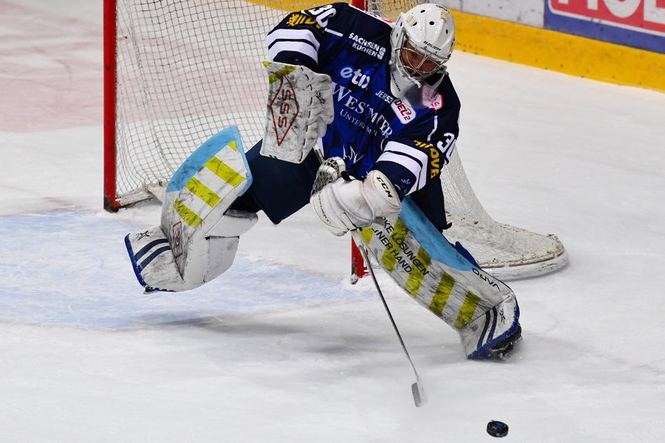 Zuletzt machte Riku Helenius (33) einen sehr guten Job und hielt die Eislöwen in den jeweiligen Spielen.