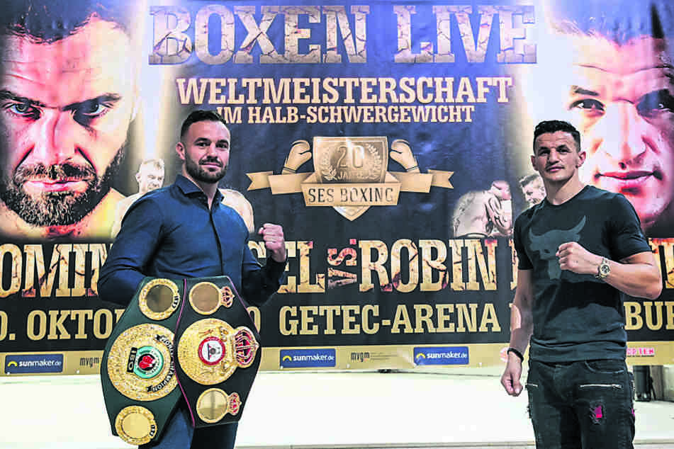 TAG24 verschenkt Tickets für den Boxkampf zwischen Dominic Bösel (30, l.) und Robin Krasniqi (33) in Magdeburg.