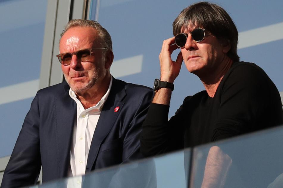 Fall Joachim Löw (60, r.): Karl-Heinz Rummenigge (65, l.) hat im Zuge Spiels zwischen dem FC Bayern und RB Leipzig den DFB kritisiert.