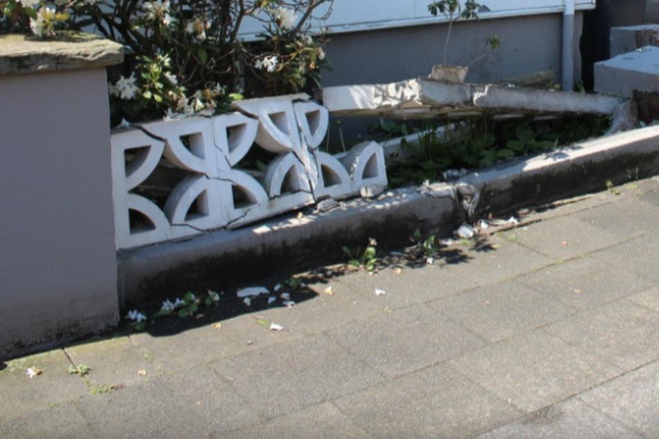 Senior zerstört Gartenmauer: 73-Jährigem wurde plötzlich schwarz vor Augen