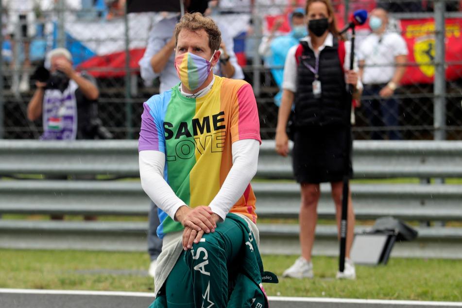 """Superstar Sebastian Vettel (34) trug ein T-Shirt mit der Aufschrift """"Same Love"""" und setzte ein Zeichen für Toleranz."""