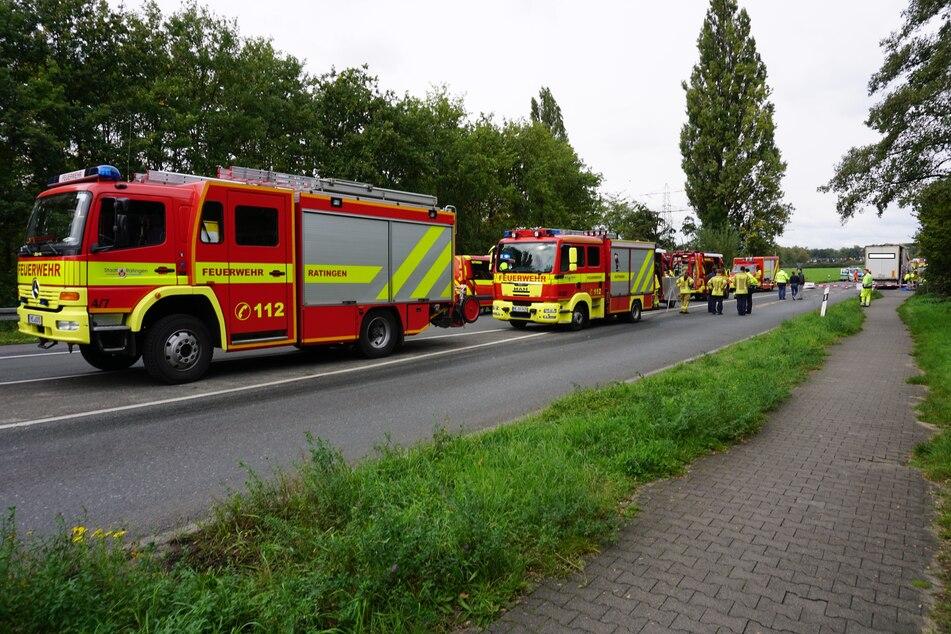 ABC-Alarm in Ratingen: Feuerwehr mit Großeinsatz