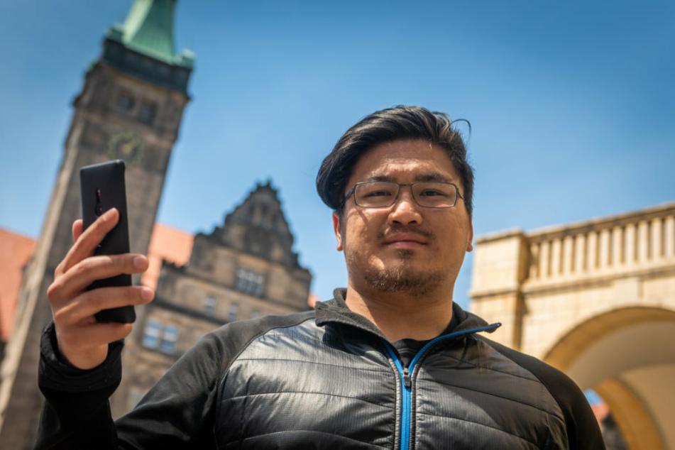 Für FDP-Fraktionsgeschäftsführer Hai Dinh Bui (27) sind die Bürger-App und der Digitalpakt wichtige Meilensteine für ein modernes Chemnitz.