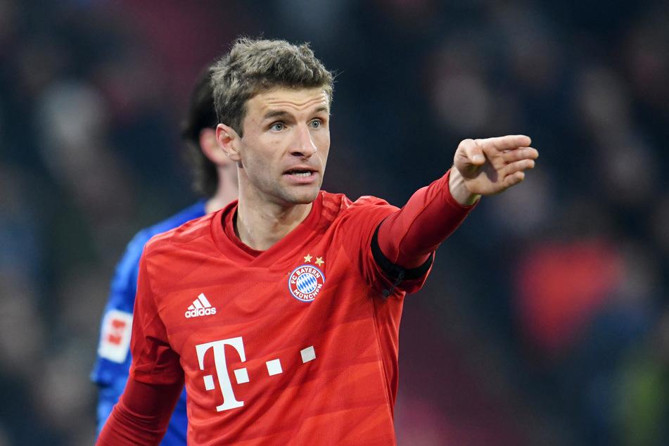 Thomas Müller (30) von Bayern gestikuliert. Der Nationalspieler würde für eine Fortsetzung der Fußball-Saison viele Bedingungen akzeptieren.