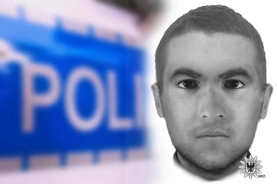 Phantombild des gesuchten Täters, der versucht haben soll, eine junge Frau zu vergewaltigen.