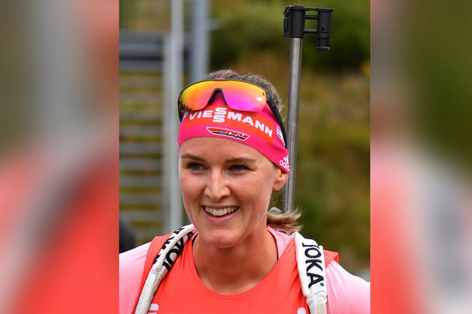 Die Oberwiesenthalerin Denise Herrmann konnte sich bei der DM über ihren zweiten Titel freuen.