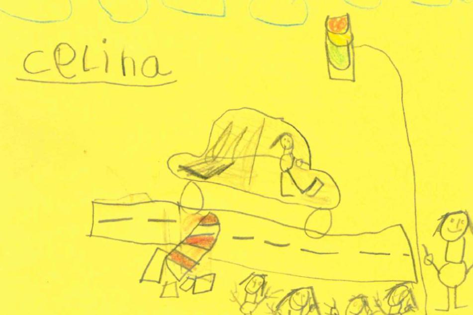 Kinder greifen Polizei mit selbst gemalter Unfallskizze und Phantombild unter die Arme