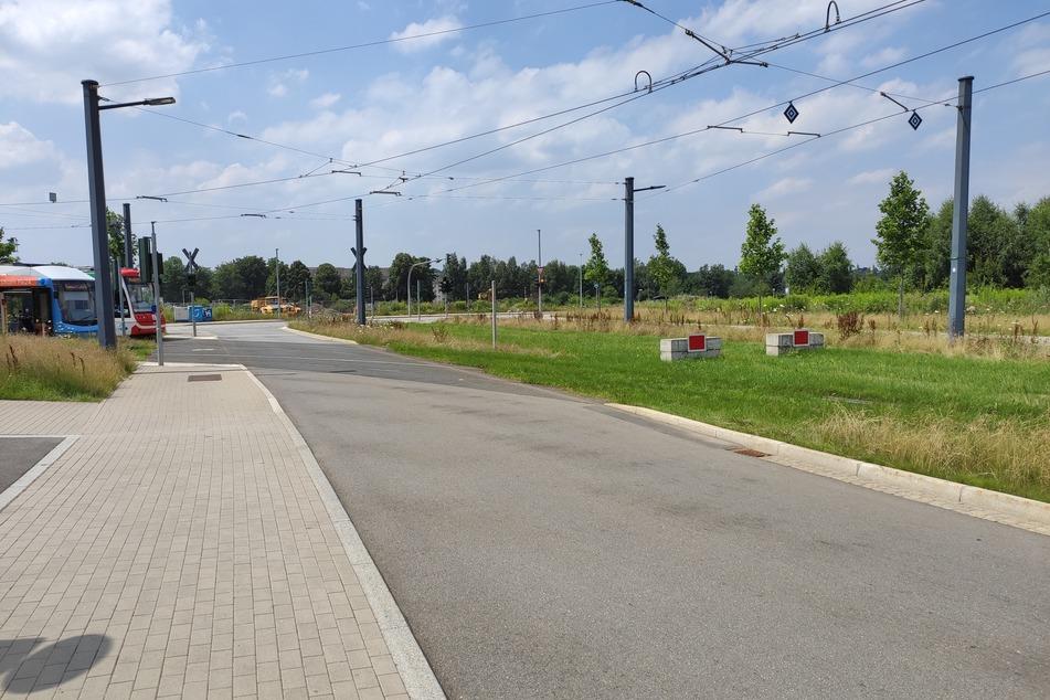 Noch ist am Chemnitzer Technopark Endstation - doch schon Ende des Jahres könnten die Citybahnen hier weiter nach Aue fahren.